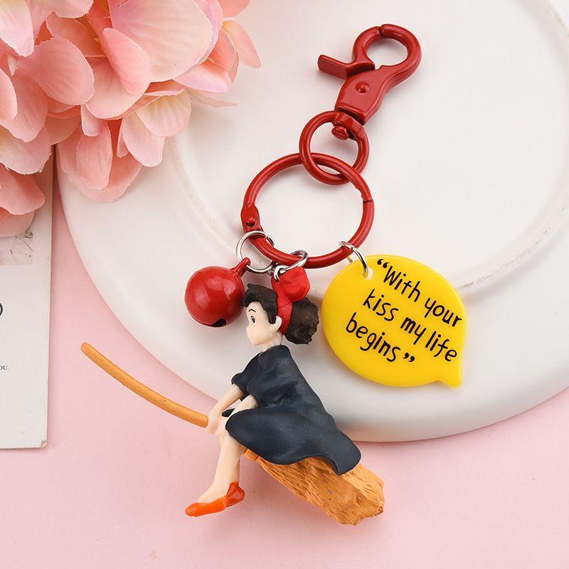 هاياو ميازاكي انمي PVC لينة دمية زياومي ليتل الساحرة سلسلة المفاتيح قلادة أنثى بيل سلسلة المفاتيح سحر حقيبة السيارة المفاتيح