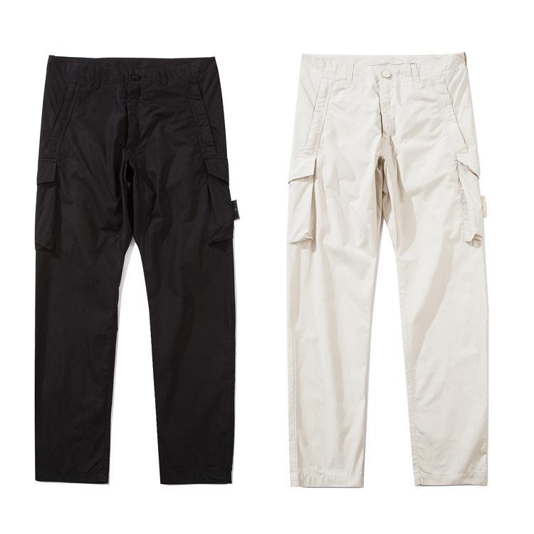 20SS 유령 PIECE 작업복 / 아노락 COTTON NYLON TELA 바지 남성 여성 코트 패션 다기능 포켓 바지