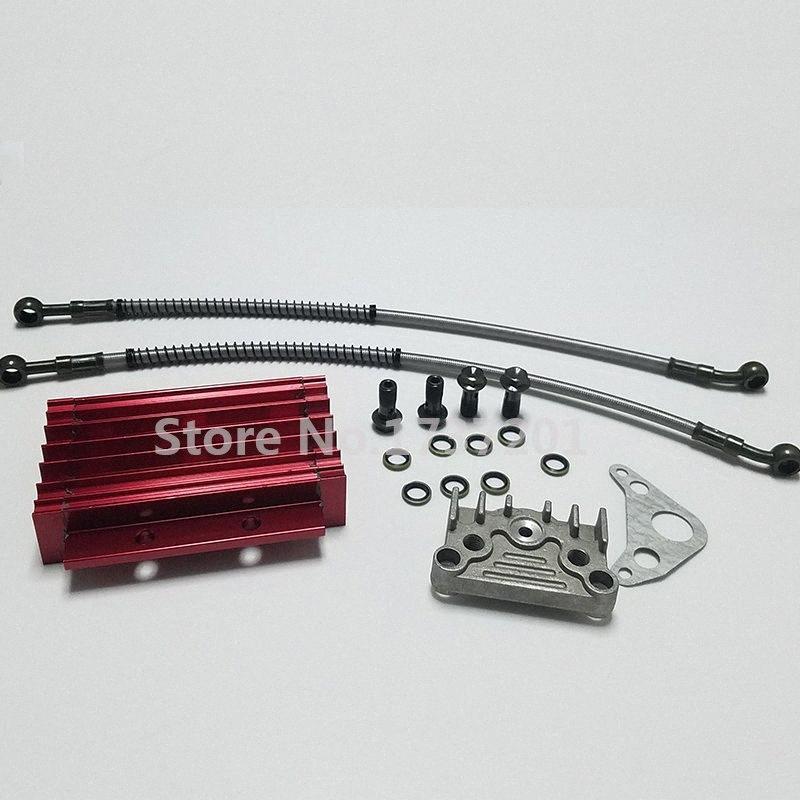 CNC Oil Cooler Kit radiatore con tubo Per 140cc 150cc 160cc PIT PRO sentiero sterrato Quad ATV del pozzo della bici della sporcizia scimmia IEGD #