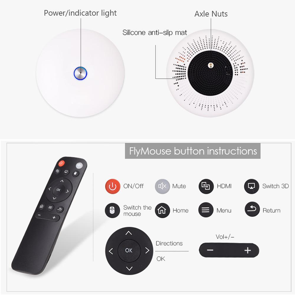 Freeshipping 1080p 3D 4K Projector Android WIFI HDMI USB Full HD Mini PC Game Home Theater Cinema Proyector 12000 mAh Battery