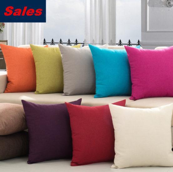 Fest Farbe Bequeme Bettwäsche Kissen- 45cm Nap Kissenbezüge 10 Farben Sofa Kissenbezug Bed Dekokissen Cases für Wohnkultur