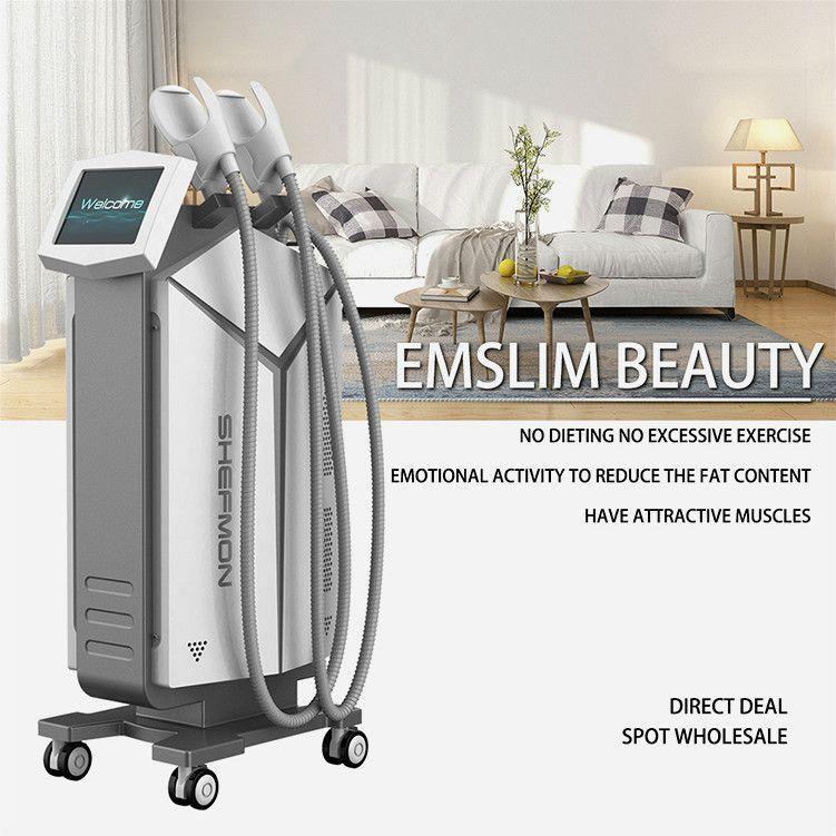 Nouveau Hiemt Beauté Machineelectromagnetic Muscle Building Machine 2 ans de garantie Muscle Stimulator Ems Culpting Muscle gratuit Shippment