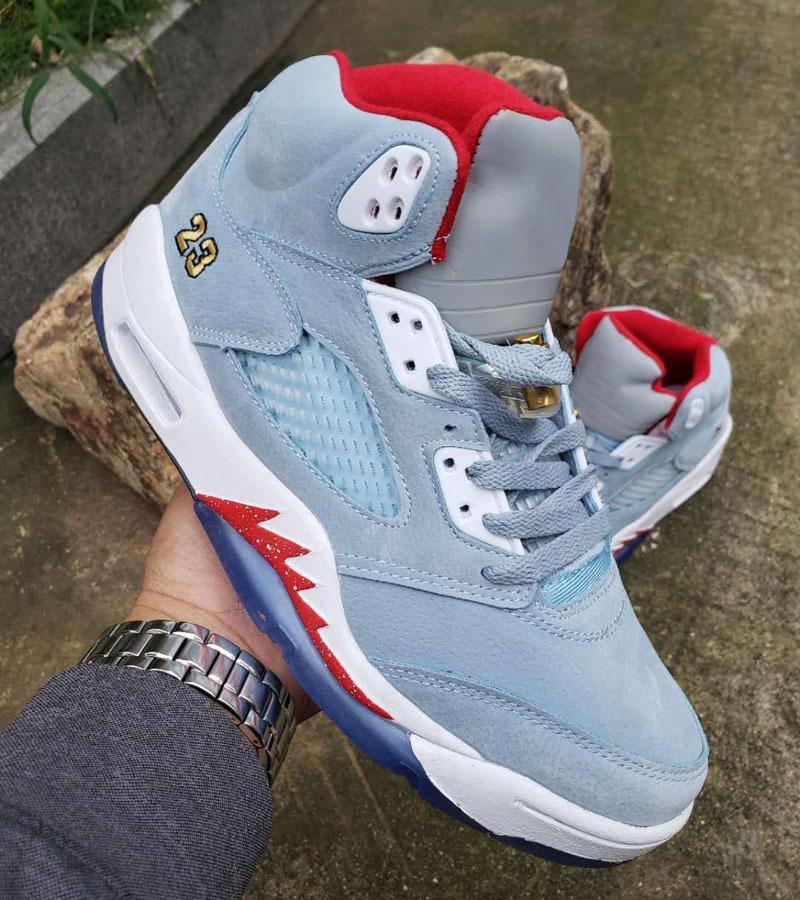 rophy Odası x 5s Buz Mavi toptan basketbol ayakkabıları 5s Jumpman 5 JSP sneaker eğitmen mens iyi Qaulitys