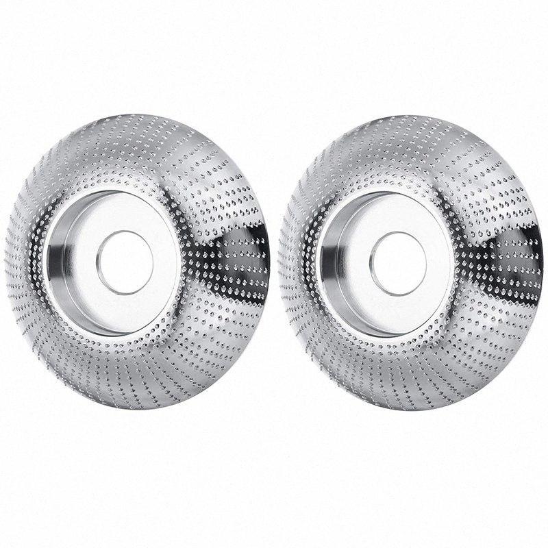 Grinder Shaping Диск 3-3 / 10 дюйма (85мм) Диаметр 3/5 дюйма (16 мм) Дерево Шлифование Carving диск для угловой шлифовальной машины (2 шт) hY7D #