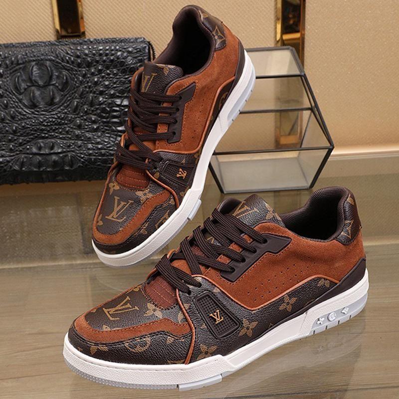 2020 Nouvelle liste Chaussures Hommes Casual personnalisés hommes sauvages chaussures de sport occasionnels, motif imprimé respirante chaussures hommes occasionnels taille 38-45 00085