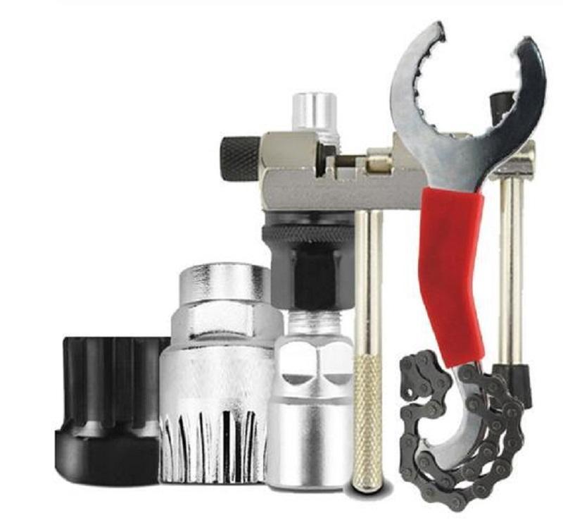 Bicycle Repair Tool Kits Chain Cutter Bracket Flywheel Remover Crank Puller Wrench Road Bikes Maintenance Tools