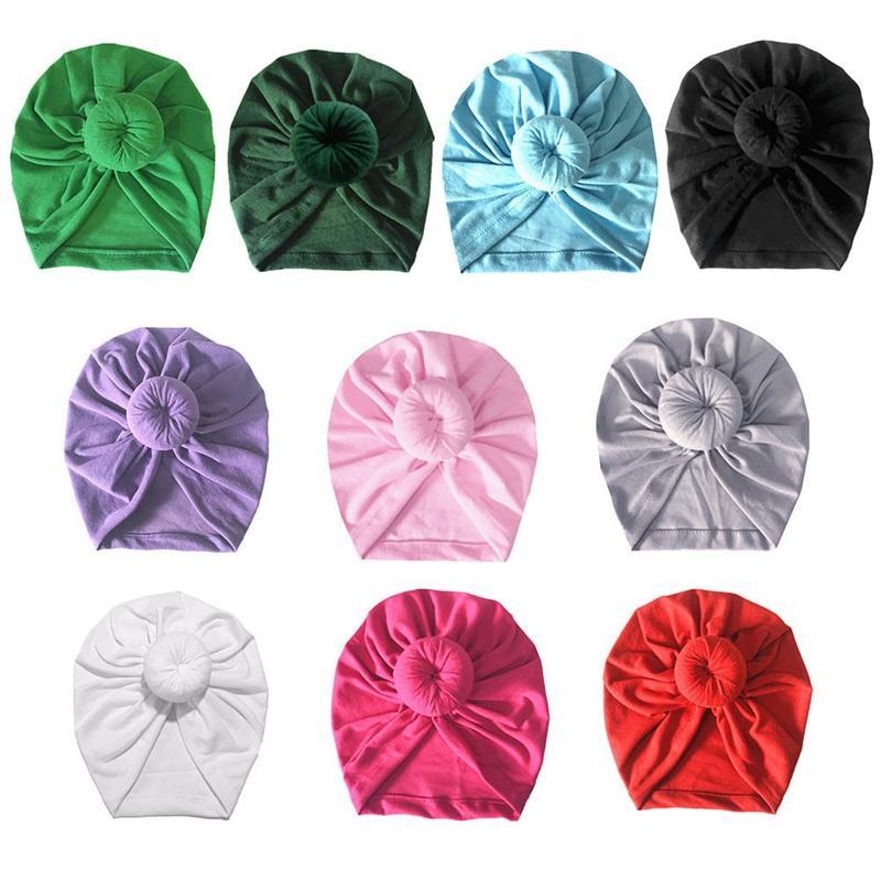 1 PC Moda Donut sombrero del bebé recién nacido algodón elástico del bebé Beanie Cap multicolores para bebé Turban Sombreros