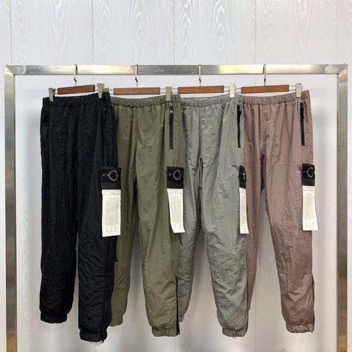 2020ss en kaliteli metal doku erkekler pusula yamalı pantolon joggers hiphop erkekler casual jogger pantolon teknoloji pantolon