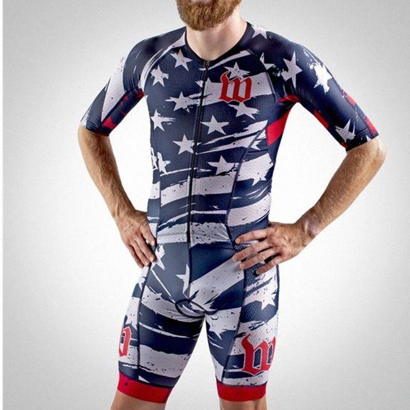 Wattie mürekkep tulum bisiklet forması setleri erkek yaz mayo kiti açık forması triatlon takım 2Fps # bisiklet skinsuit