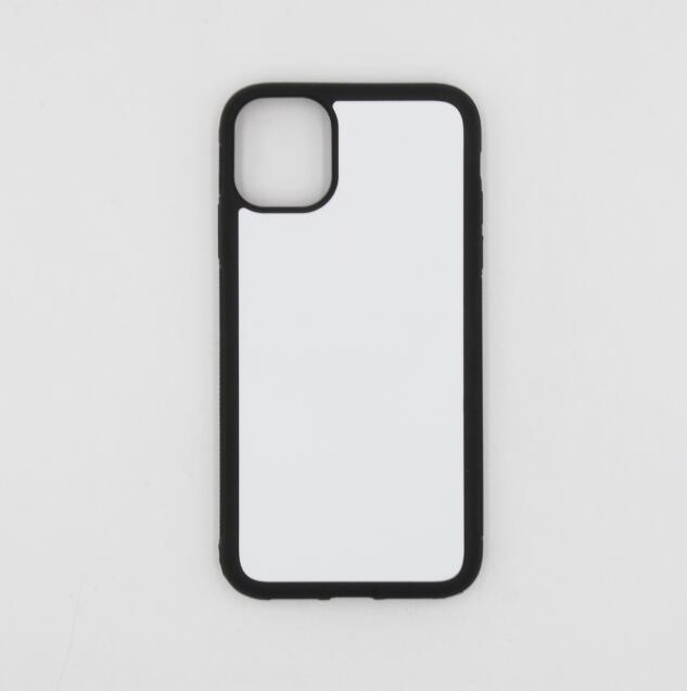 Metal en blanco para el teléfono 2D estuche de impresión dura shell /6.1 pulgadas con inserto móvil plástico iphone11 sublimación nkuon