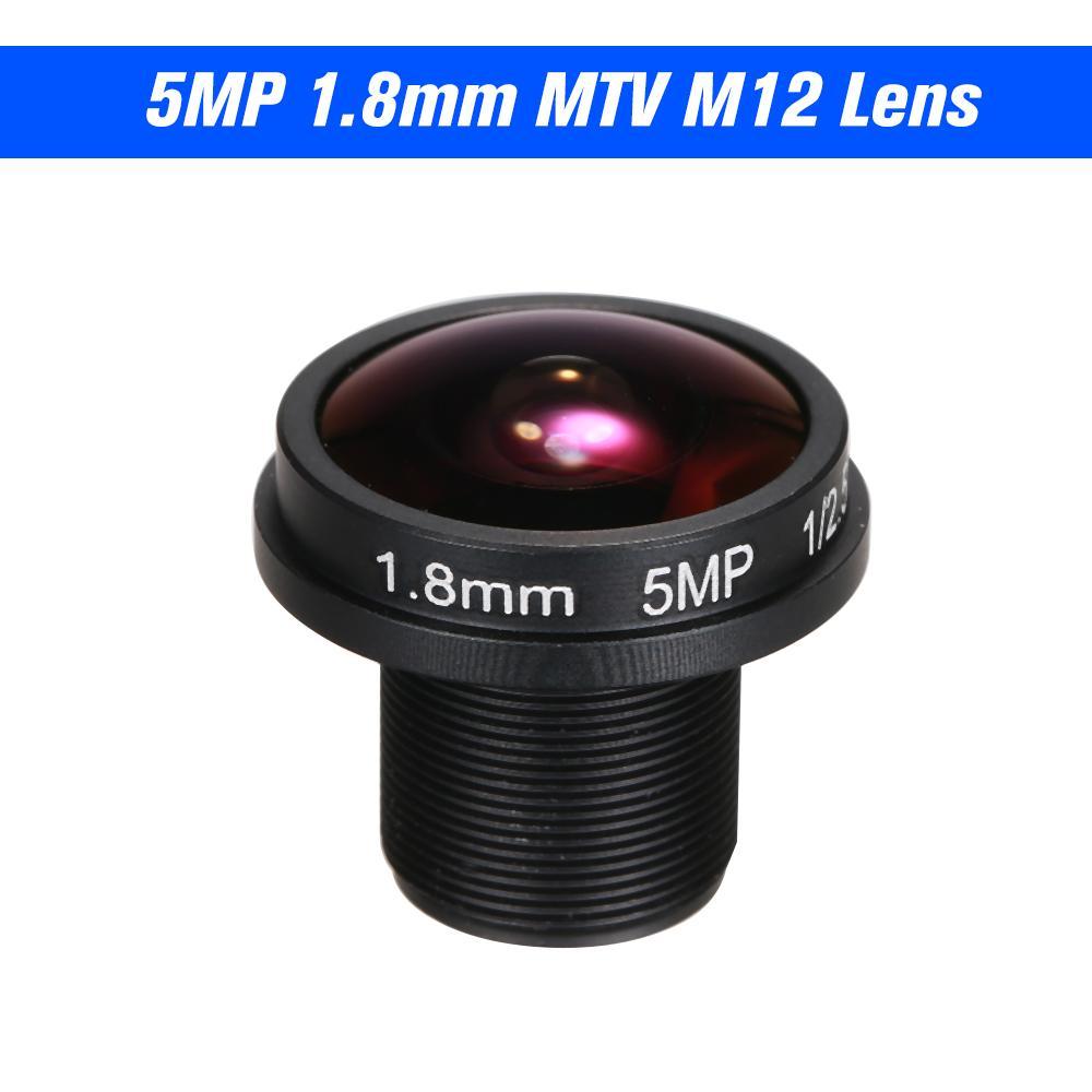 "1.8mm Fisheye Lens HD 5.0 Megapixel IR M12 Mount 1/2.5"" F2.0 For CCTV IP Camera 180 Degree Wide Viewing Angle Panoramic CCTV Camera Lens"