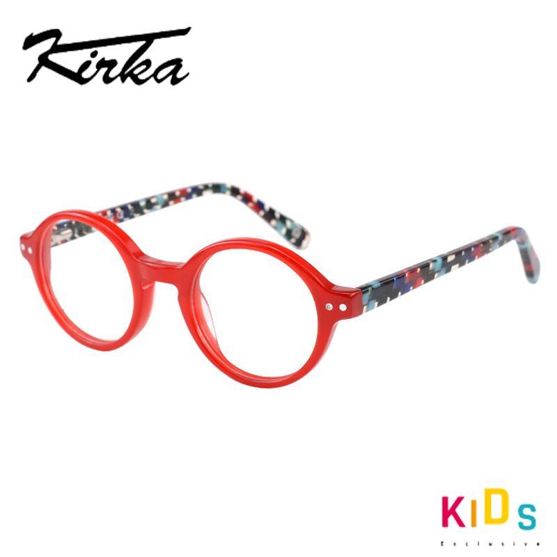 Круглые Дети очки Ацетат Ребенок Оправа для очков Красных Детей Оправы рюмки для девочек и мальчики Дети
