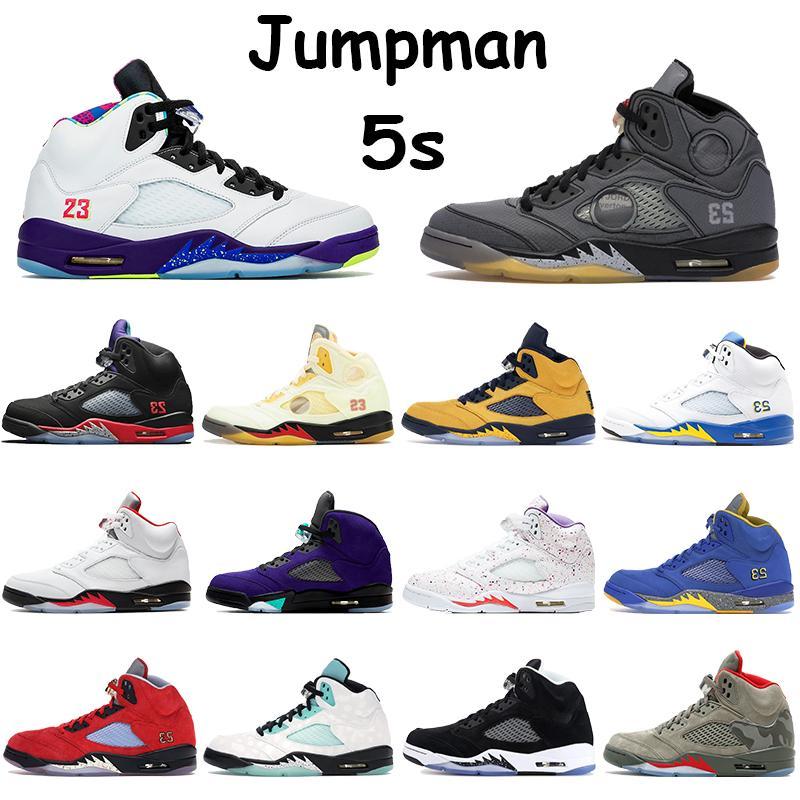 2020 Jumpman 5 5S الرجال لكرة السلة أولي البديل بيل أعلى 3 عيد الفصح اني الأسود الشاش الشراع ميشيغان الجزيرة الخضراء Chaussures الرجال المدربين