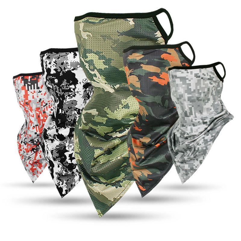 Máscara de 2020 Exército Caminhadas lenços de poliéster à prova de vento Neck Warmer Rosto Anti UV Tactical cara camuflagem Bandana Imprimir