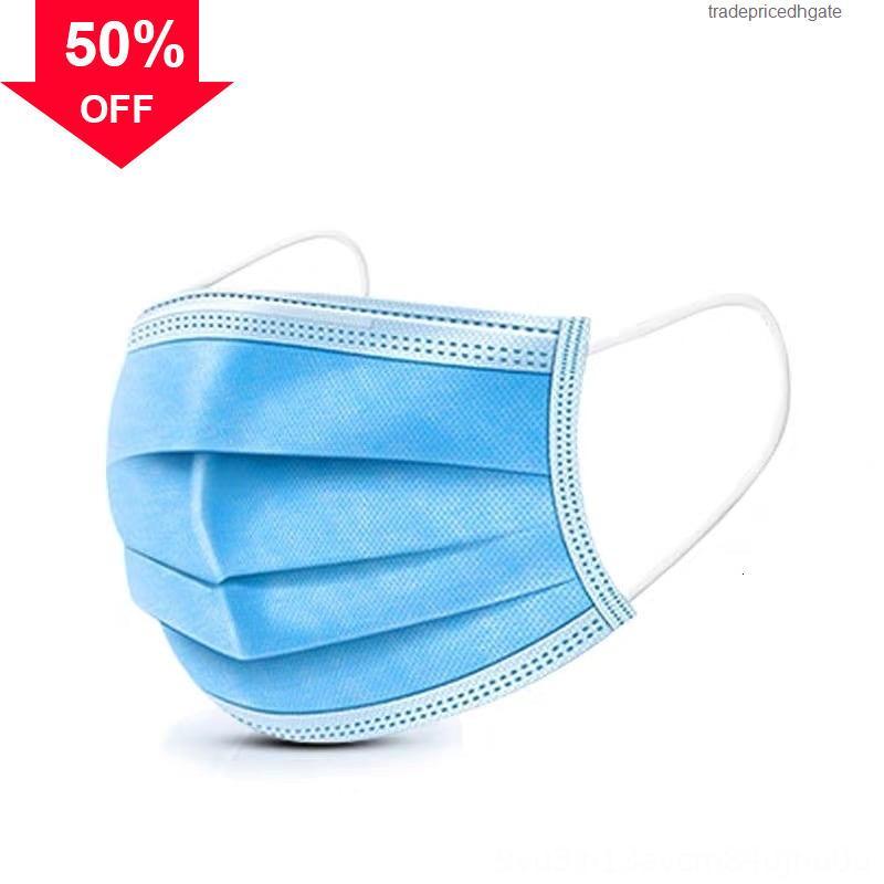 Maschera tessuto non 0nzxr monouso a 3 strati anti-polvere Bocca PM2.5 Meltblown dal design di lusso viso panno maschere respiratorie e