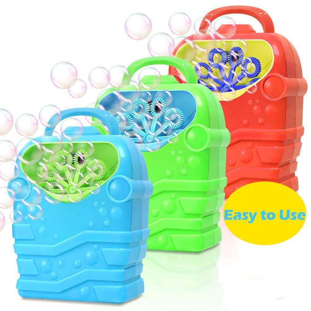 Bubble Machine Дети Прочный Автоматическая Bubble Blower Открытый игрушки для девочек Мальчик