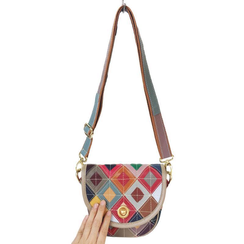 Multi-color Cowhide Handles Shoulder Bag Bovine Leather Strap Long Belt 118cm