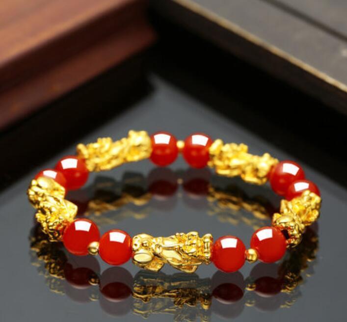 BraceletsPI xiu Armband Liebhaber einfache Design Persönlichkeit Mode Modeschmuck rotes Seil handgewebte Handschnur