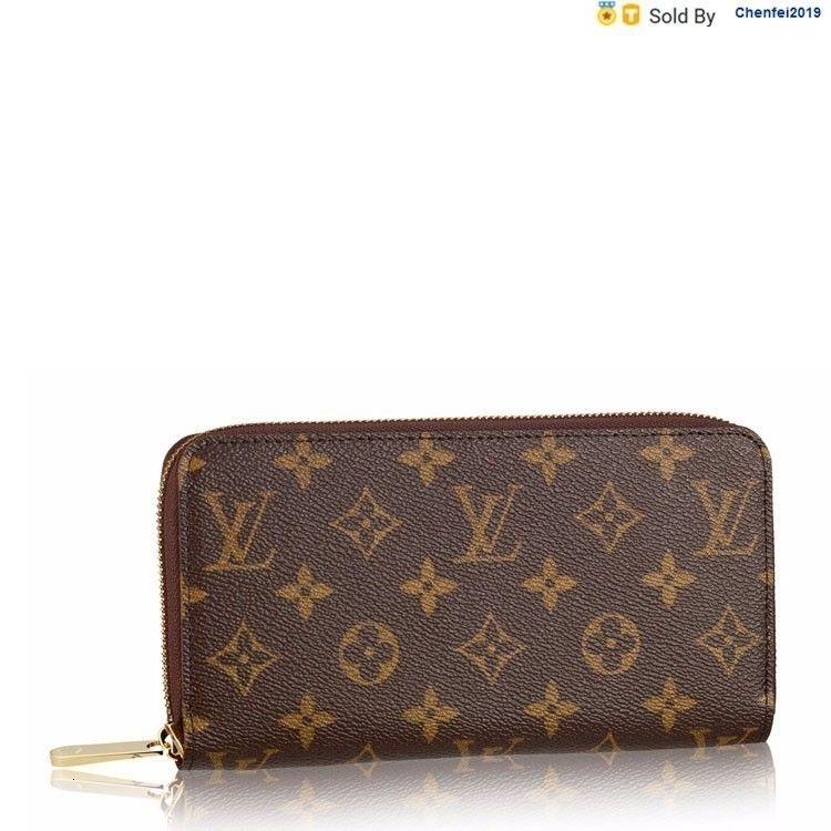 chenfei2019 8FPY Canvas Leather Zippy Zipper Wallet M60017/m42616 Totes Handbags Shoulder Bags Backpacks Wallets Purse