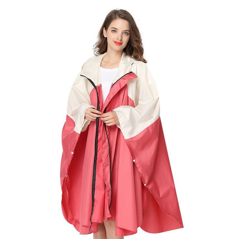 Women's Fashion Raincoat Waterproof Rain Coat Women ooded Rain Poncho with Hood Hiking Rainwear Climbing Hiking Polyester 60YY44
