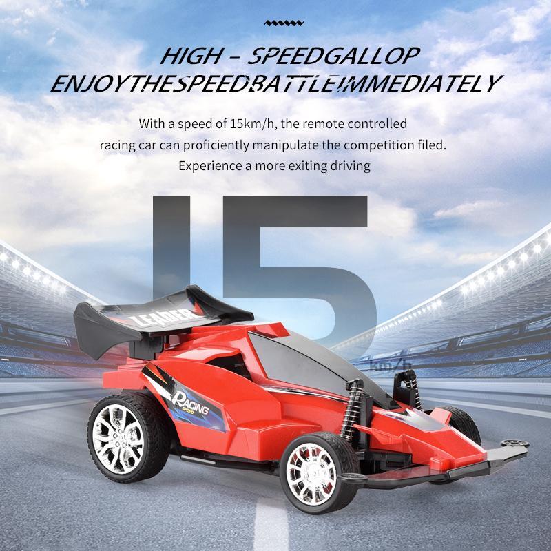 Lichtmodelle 04 Elektrische Fernbedienung Rennsteuerung Hochfahrzeug RC-Spielzeug 1:16 aus Jungen Auto Kinder Straße Bunte Auto Xnnrh