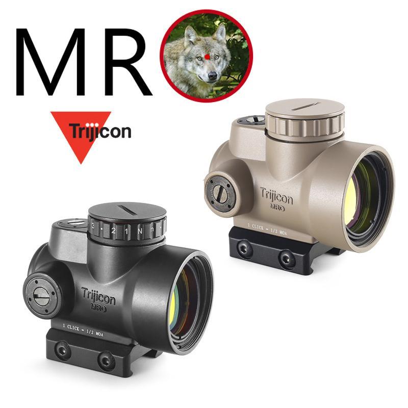 Trijicon MRO 스타일 홀로그램 적색 도트 시력 광학 범위 전술 기어 Airsoft는 사냥 라이플을위한 20mm 스코프 마운트