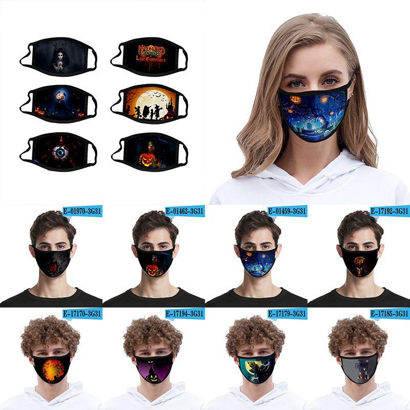 Хэллоуин многоразовые маски моющиеся маски для взрослых и детей Хэллоуин печататься респираторы XD23759