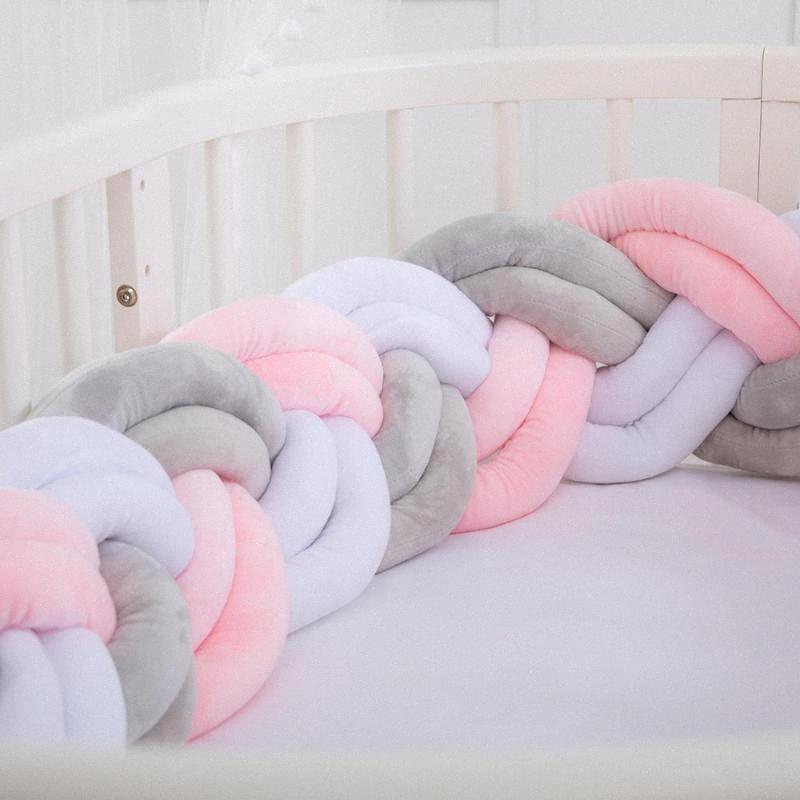 200cm 6 Threads Soft Baby Bed Bumper Crib Sides Newborn Crib Pad Protection Cot Bumpers Bedding For Infant rFUZ#