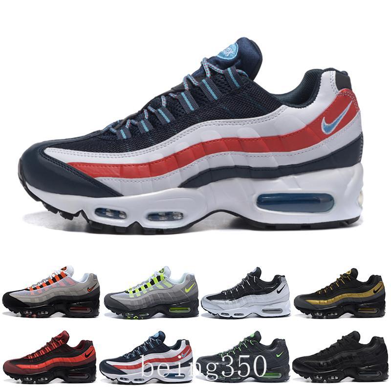 nike air max 95 airmax Trasporto di goccia correnti del commercio all'ingrosso Scarpe Uomo Air Cushion OG Sneakers Stivali autentico nuovo a piedi scarpe sportive scontati