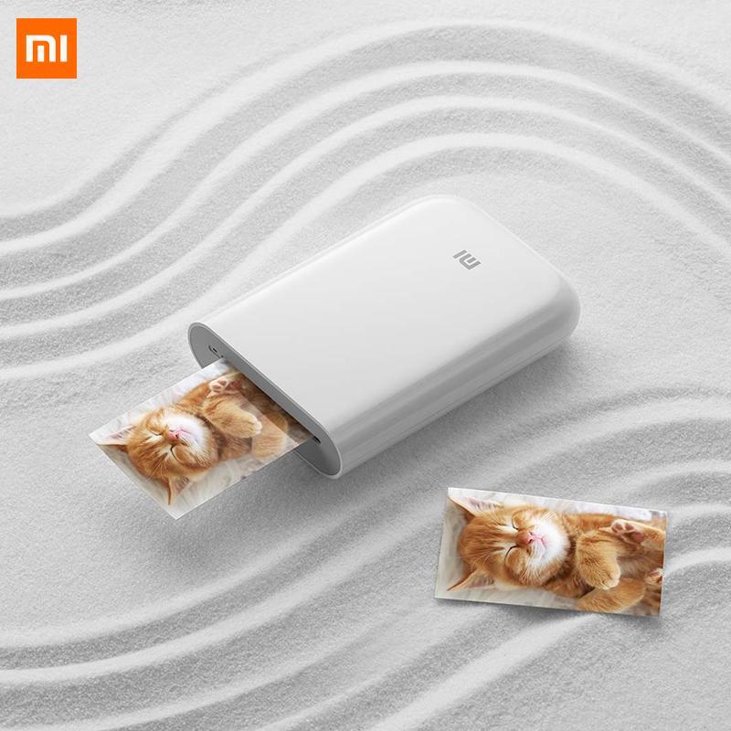 mijia ile Xiaomi mijia AR Yazıcı 300dpi Taşınabilir Fotoğraf Mini Cep ile DIY Hisse 500mAh resim yazıcı cebi yazıcı işi