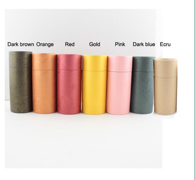 Tube rond Carton Kraft Papier Carton pour bouteille Essential Emballage cadeau 50pcs 10ml / 20ml / 30ml / 50ml / 100ml