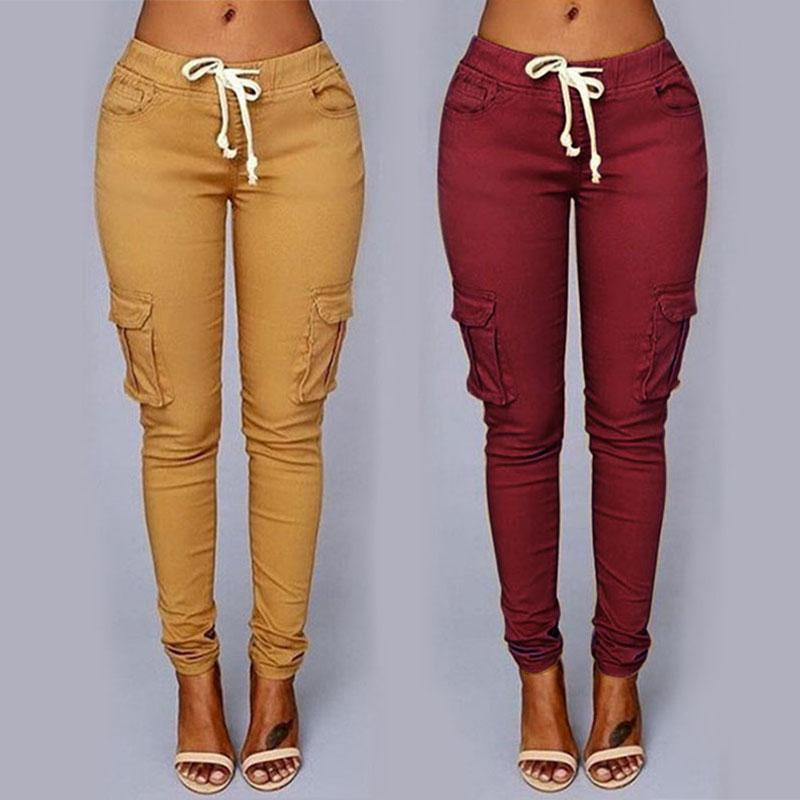 Women Leggings Sexy High Waist Skinny Ladies Casual Trousers Fashion Womens Pencil Pants Female Jeans Drawstring Legging Tights 050716