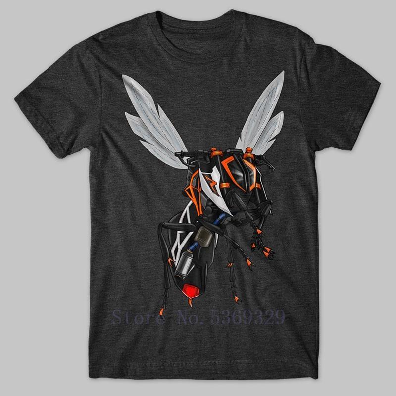 2019 Nouveau drôle Hommes Classique Motorcycle Motorrad Anthracite T T-shirt pour 1 290 200 250 390 Design Été TShirts