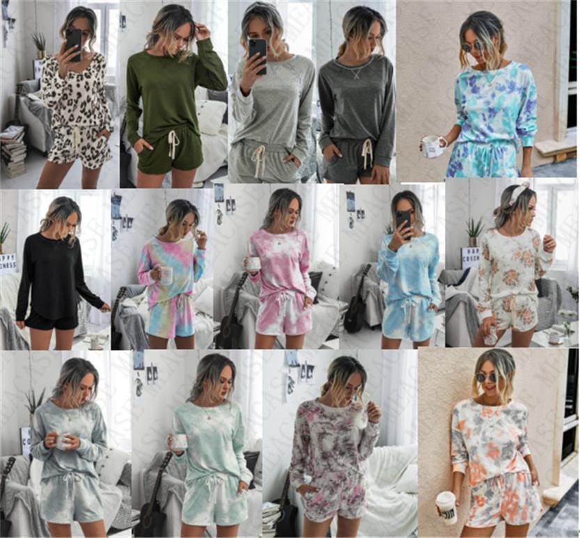 14 Farben Hoodie und Shorts Set Trendy Elegent Anzug für Frauen Damen Langarm Pullover 2 Stück Outfit Art und Weise beiläufigen Tuch D71407