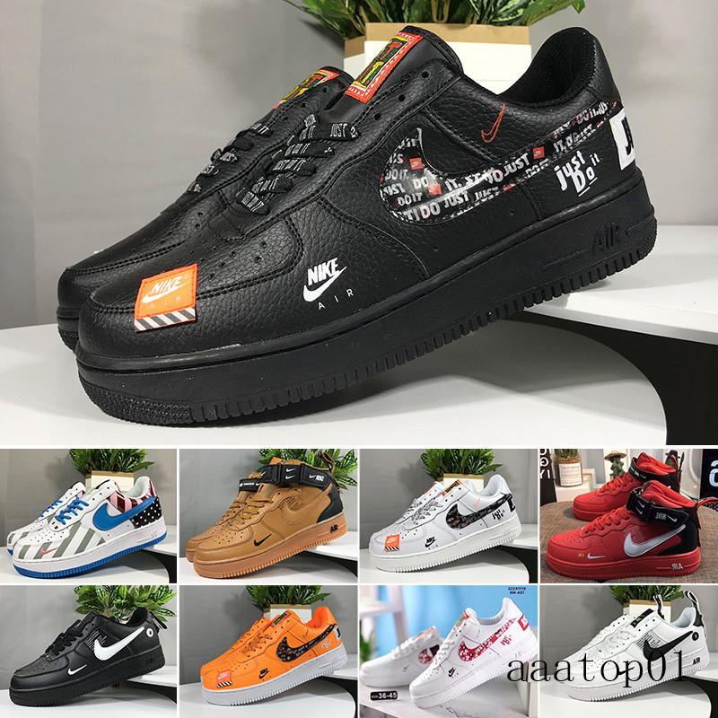 Nike air force 1 one 2019 Nouveautés Forces Volt Chaussures de course Femmes Hommes Formateurs un sport de planche à roulettes classique 1 Vert Blanc Noir Guerrier Ch