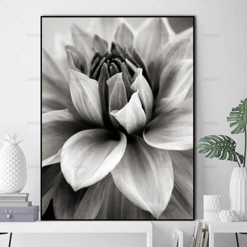 Nordic Flower In Blossom Wall Pictures for Living Room Wall Art Decoration Pictures Scandinavian Abstract Canvas Painting Prints Home Decor