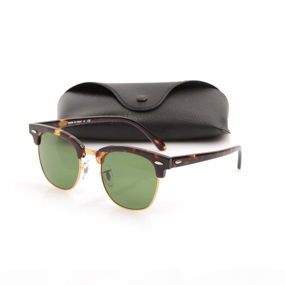 Metal de alta calidad bisagra gafas de sol gafas de sol del tablón negro gafas de sol gafas de sol de la marca del club de diseño de marca gafas de sol con los casos originales