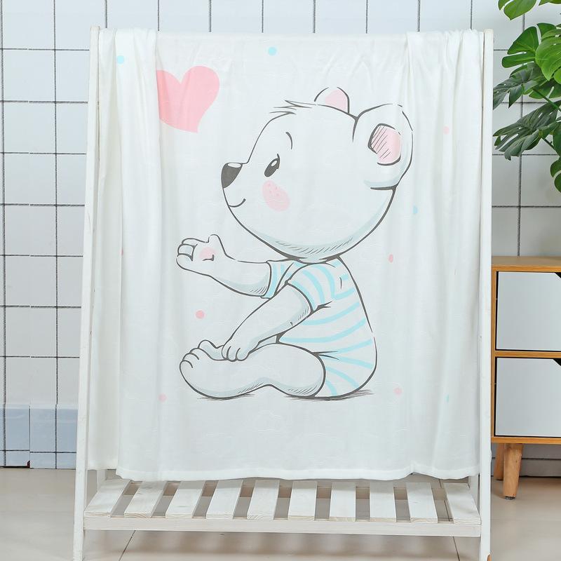 Kind Handtuch Decke bequem und atmungsaktiv Babybadtuch Karikatur-Muster-Kinder-Sommer-Quilt super weiche Bettwäsche T200529