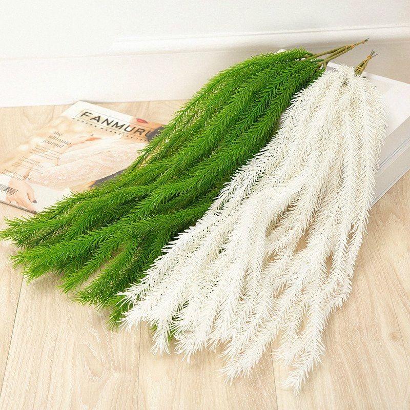 New arrival fake plant Plastic Green bristlegrass home decoration hanging flower rattans vENu#