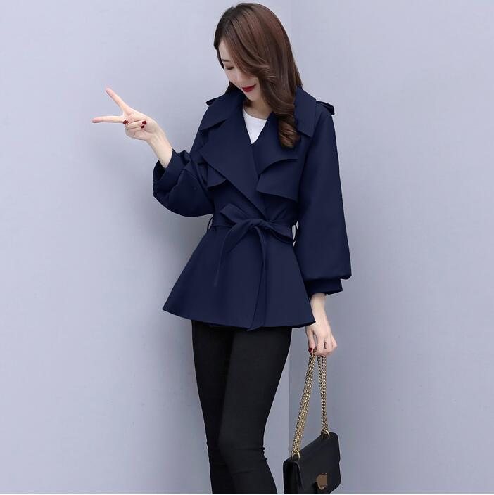 brevi 2020 nuovo stile cappotto cappotti cintura bavero tracolla temperamento di modo allentato delle donne di autunno della molla del windbreaker jacket monopetto