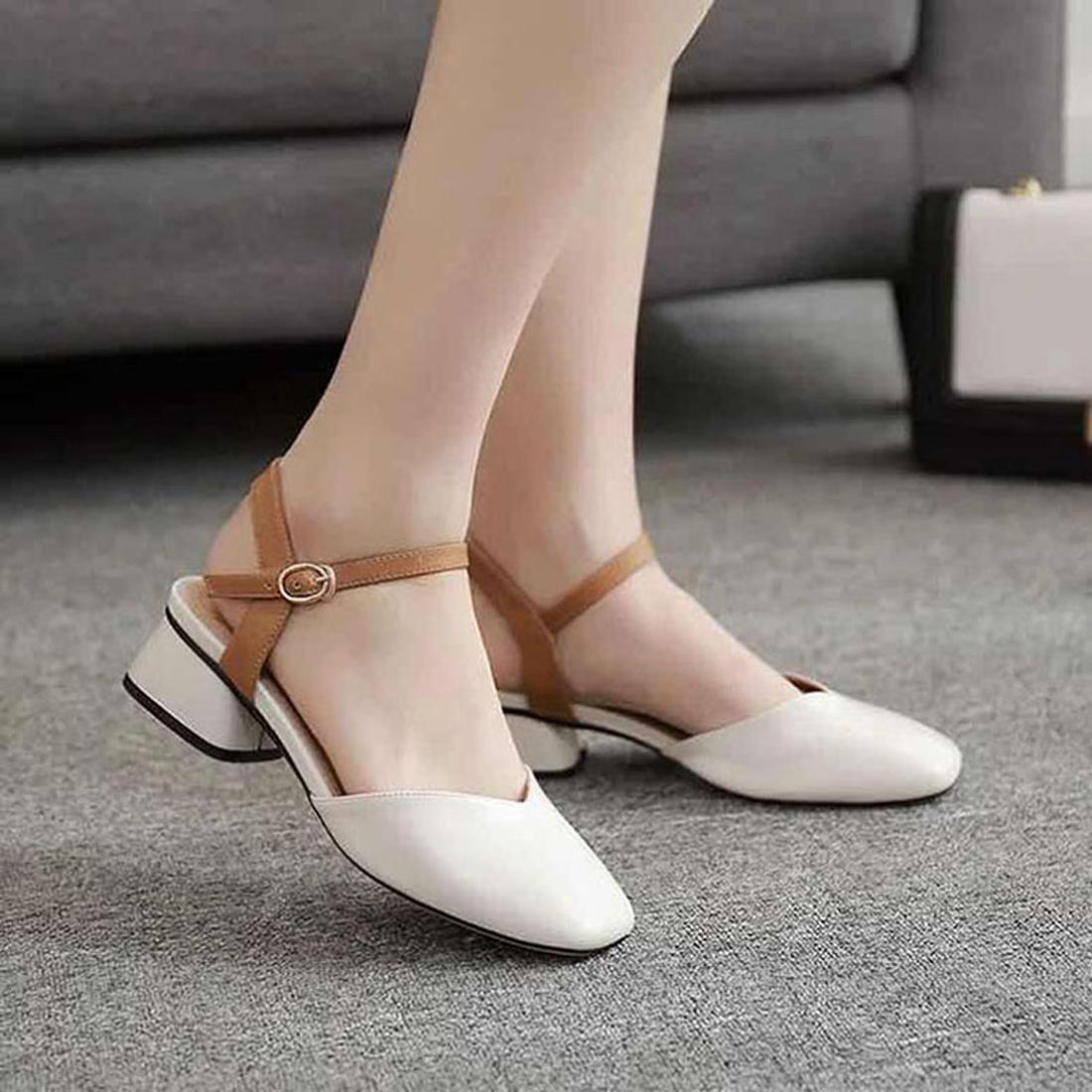 2020 luxo varinha mágica tamanho cowskin preto branco de couro real plataforma de designer sandálias mulheres sapatos da moda 35-41 tradingbear 11P61
