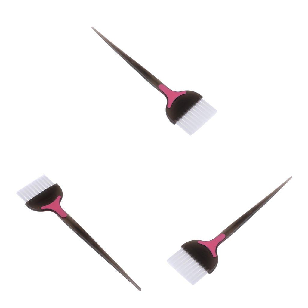 3pcs Pro tinte para el cabello para colorear Pincel Tinte cepillos para el salón del hotel Herramienta Cuidado del Cabello