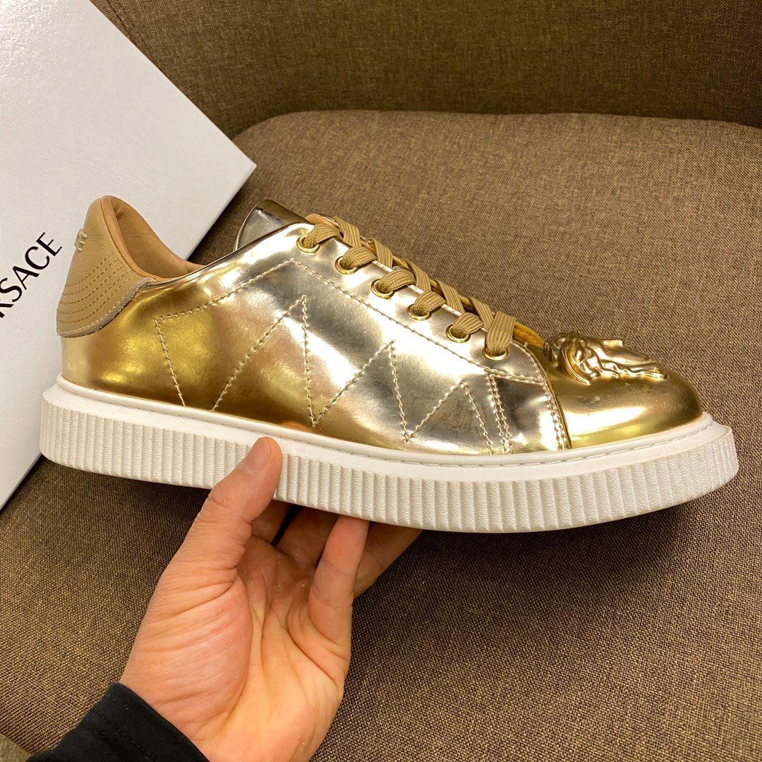 Luxe Designers Sneaker Plate-forme Formateurs Suede Chaussures Hommes Cuir de veau véritable de créateurs de mode en cuir mixte couleur avec la boîte