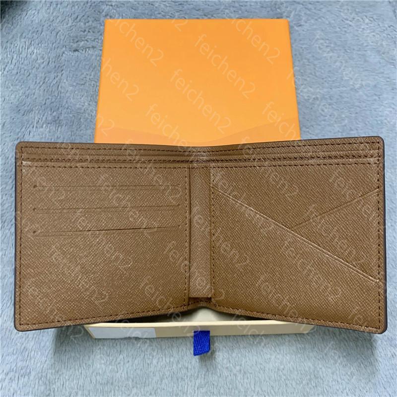 Plaid Herren L7CH Zippy Multicolor Short Man Card Echte Geldbörsen Paris Geldbörsen Münztasche Brieftaschen Kredit Stilhalter Leder mit Box WA ualp