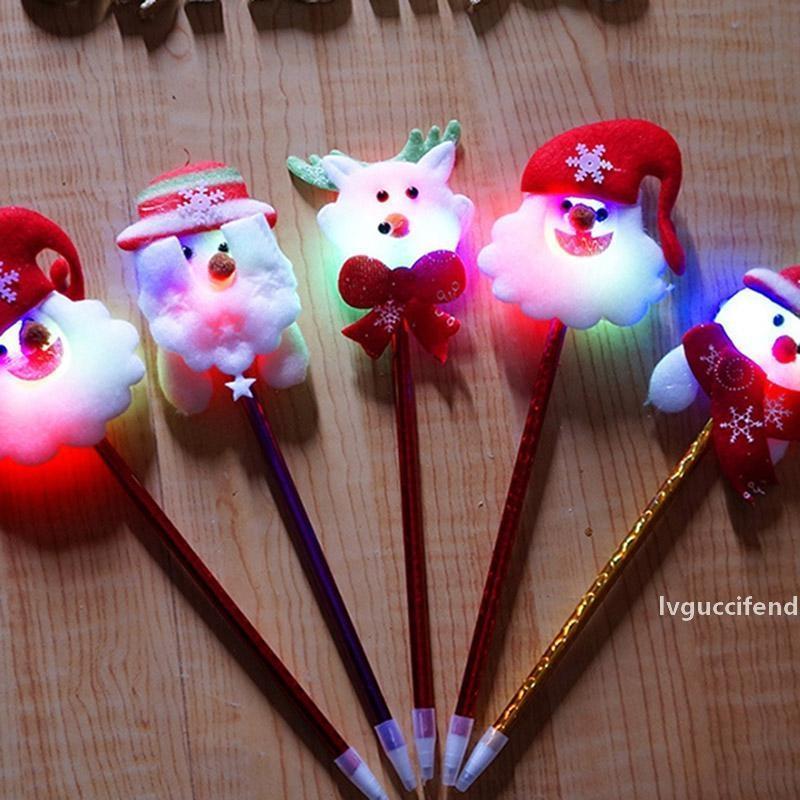 Christmas Pens LED Lights Bracelets Hairband Headband Christmas Decorations Fiber Optic Lamp Christmas Lamp Multiple Flash Modes
