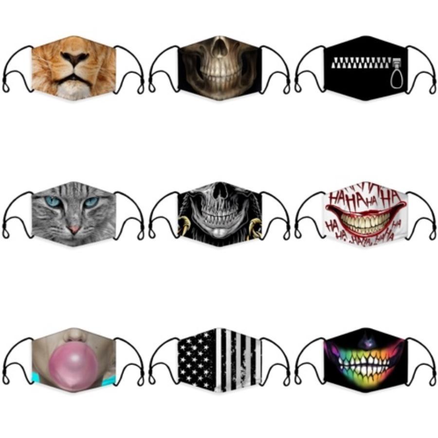 Männer Frauen-Sommer-Masken waschbar Baumwolle atmungsaktiv Streifenmaske Staubdichtes Schutz Mund Er Patchwork Masken RRA3248 # 282