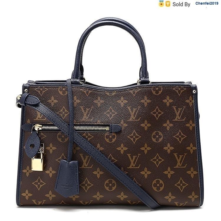 chenfei2019 ACRJ Popincourt Shoulder Flower Blue, Portable, M43434 Totes Handbags Shoulder Bags Backpacks Wallets Purse