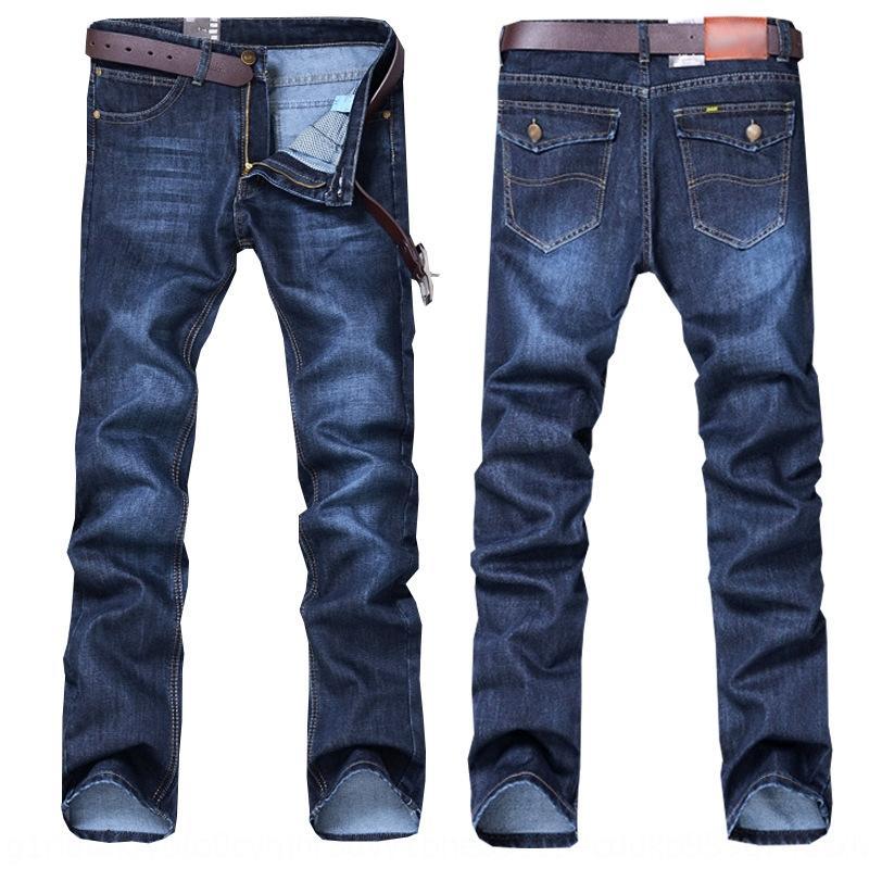 Été et des jeans casual décontracté et des jeans coupe droite mince nouveaux hommes jeunes pantalons printemps pantalons de hommes RMpGY