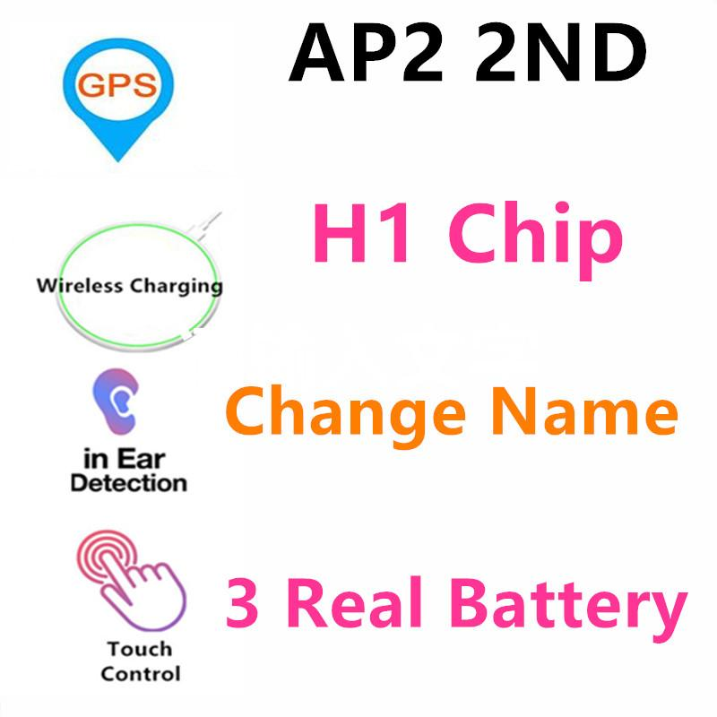 TWS H1 Çip AP2 Geçerli Seri Numarası Kulaklıklar Kablosuz Bluetooth 5.0 Twins Kulaklık Siri GPS yeniden adlandırma Süper Bass Kulaklık PK i12 i10 i500