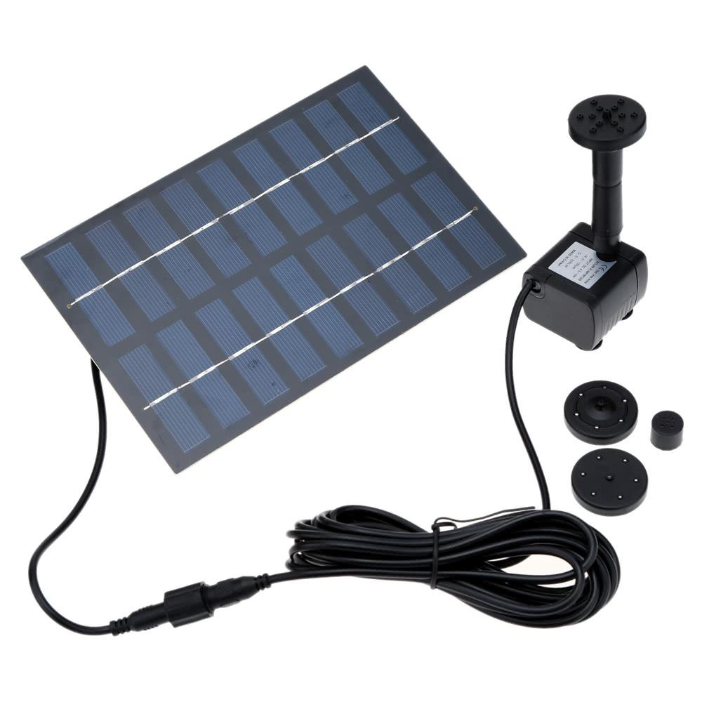 Solar Power Fountain Panel Irrigation Air Pumps Oxygen Water Pump for Agricultural Garden Flowers Plants Pool Landscape Watering